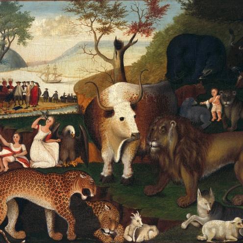 Edward Hicks - The Peaceable Kingdom (c.1840) - Google Art Project