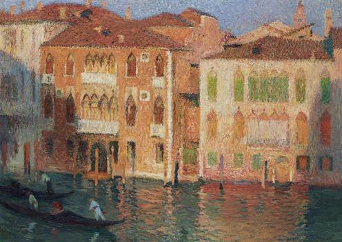 Henri Martin (1860-1943), Venise, palais et gondoliers sur le Grand Canal, signed 'Henri Martin' (lower right), oil on canvas, 26 ¾ x 37 ¾ in. (68 x 96 cm.), Source: Christie's