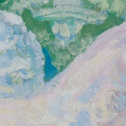 Hermenegildo Anglada-Camarasa, (1871-1959), La gata rosa, signé 'H. Anglada-Camarasa' (en bas à droite), huile sur toile, non rentoilée, 103,7 x 190,3 cm. (40 7/8 x 74 7/8 in.), Source: Christie's,(detail).